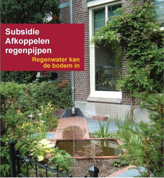 Subsidie afkoppelen regenpijpen
