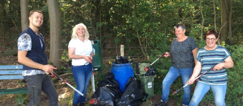 VLP actief tijdens Maas Cleanup gemeente Beesel